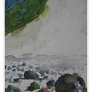 Insel Moen, Aquarell 20x30 cm