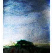 Steinz. Grab, Insel Moen, Aquarell 20x30 cm