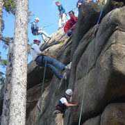 abseiling
