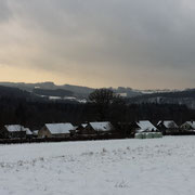 Herbeumont panorama in the snow