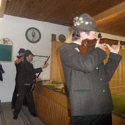 Alljährliches Schiessen auf die Herbert Brenner Gedächtnisscheibe mit dem Zimmerstutzen