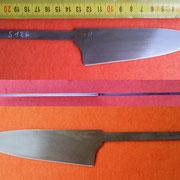 S126, Küchenmesserklinge aus Wolframstahl