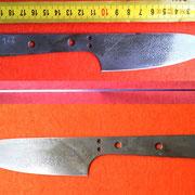 S122, Küchenmesserklinge aus Wolframstahl