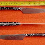 Nr.18/12, Küchenmesser,Stahl 1.2562, gesamt 21,5cm, Klinge 11,5cm , 2mm stark, Griff : Acryl