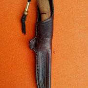 Nr.13-2013 , handgenähte Rindslederscheide