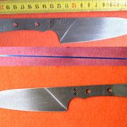 S123, Küchenmesserklinge aus Wolframstahl