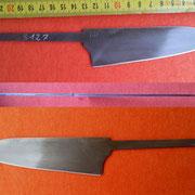 S127, Küchenmesserklinge aus Wolframstahl