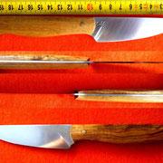 Nr.: 5-2015, Küchenmesser aus 1.2235, Griff: Nußholz