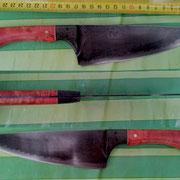 19/2013, Küchenmesser mit stabilisiertem Holz und Echtcarbon