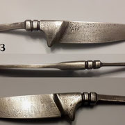 Nr.)Q21, Nicker, Damaststahl eigene Herstellung