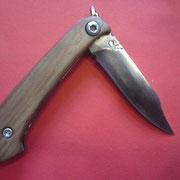 """S2."""" Friktion Folder"""", Stahl: 1.3505 , gesamt: 16,7cm, Klinge 6,5cm, 3,3mm stark,Griff:Apfelholz"""