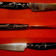Nr.1-2013,Küchenmesser, Stahl 1.2519, Gesamt 19cm, Klinge 9,4cm, 1,7mm-0,1mm stark.