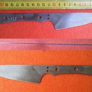 S125, Küchenmesserklinge aus Wolframstahl
