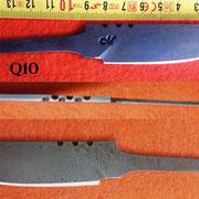 Nr.)Q10  Damaststahl eigene Herstellung