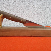 Nr.: 14-2015, Küchenmesser aus 1.2510 (Wolframstahl) Griff: Türkisches Maser-Nußholz