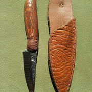 Nr.4/12, 3-Fingermesser, Stahl : 1.2008( Feilenstahl), Gesamtlänge:15,4cm, Klinge :7,6cm lang und 3,4mm stark,