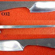 Nr.) O32 Ganzstahlmesser
