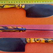 Nr.7-2013,Küchenmesser, Stahl 1.2842, Gesamt 25cm, Klinge 13cm, max 2.5mm stark.