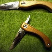"""S7,"""" Friktion Folder"""", Stahl: 1.2842 , gesamt: 11,7cm, Klinge 4,8cm, 2,1mm stark,Griff:Nußholz"""