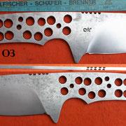 Nr.) O3, Jagdmesser , Stahl 1.3505