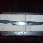 Nr.13/11, Küchenmesser aus 1.3505, extrem dünn ausgeschliffen