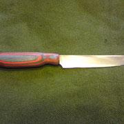 1903.)Sellerieschaber, Stahl 440B rostfrei, gesamt:26,2cm,Klinge14,1cm, von 2,3mm auf 0,5mm ausgeschliffen,Griff:Pockholz
