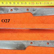 Nr.) O27,Küchenmesserklinge