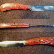 Nr.: 16-2015, Küchenmesser aus 1.3505 (Wälzlagerstahl) Griff: stabilisiertes Maser- Holz