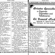 Adressbuchauszug von Stargard in Pommern, 1922