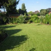 Garten der Monteurzimmer im Sommer