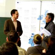 Lucas Dymny und Prof. Dr. Javier Gómez-Montero