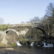 Puente medieval de Furelos en Melide