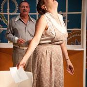 André St-Onge, Josianne Lavoie - Oscar - Théâtre de l'Île - 2013 - Photo Marianne Duval