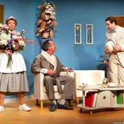 Manon Lafrenière, André St-Onge, Patrick Potvin - Oscar - Théâtre de l'Île - 2013 - Photo Marianne Duval