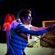 Patrick Potvin, Virginie Houët, Sylvain Sabatié - Monstres sans soucis - Théâtre de Dehors - Photo Théâtre Marianne Duval