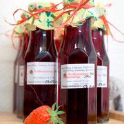 Erdbeersirup aus eigenen Erdbeeren
