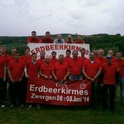 Kirmesburschen 2014 - 10 Jahre Erdbeerkirmes in Zwergen