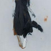 magie noire - huile sur bois - 80 cm x 50 cm