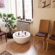 Wartezimmer der Naturheilpraxis Birgitt Groß
