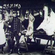 Verkauf im Freien um 1926