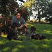 Zuhause mit meinen Hunden 2002