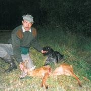 Gallo Zeffiro mit erlegten Bock