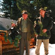 Josef Moll mit erlegten Birkhahn 2002