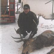 Erlegter Hirsch im Berchtesgadener Land 2010
