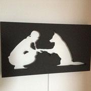 Fertiges Wandbild unbeleuchtet
