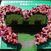 2017年 第44回平塚市緑化まつり 平塚市園芸協会花き部会ばら部会提供の切りバラで来場とつくったバラアート