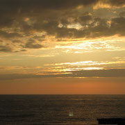 不老不死温泉からの夕陽