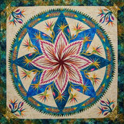 Paradise in Bloom wall quilt quiltworx pattern