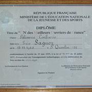 Le diplôme de MOF