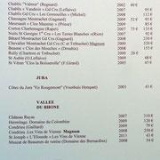 Quelques vins blancs